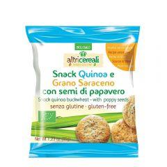 Snack fara gluten din quinoa si hrisca cu seminte de mac 35g