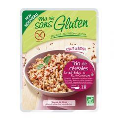 Trio cereale natur - produs fara gluten bio gata preparat 220g