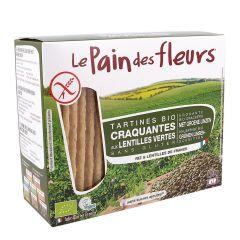 Turte crocante cu linte verde bio - fara gluten 150g