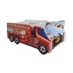 Pat copii HM Fire Truck 148 x 74 x 58 cm