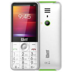 Telefon mobil iHunt i3 3G, 2.8-inch Display, DualSIM, 3G, Radio FM, Bluetooth, Lanterna, Baterie 1450mAh, Camera, White
