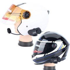 Sistem de comunicare moto Intercom FreedConn Tcom-SC, Bluetooth, FM Radio (cu ecran)