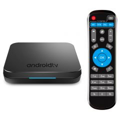 Mini PC Android TV Box Mecool KM9 + Telecomanda, Amlogic S905X2 Quad Core, Android 8.1 4GB DDR4 32GB eMMC 4K USB3.0, KODI 17.6 Netflix