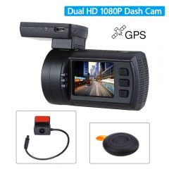 Camera Video Auto Mini 0906 Dual Camera, senzori Sony IMX291+Sony IMX322 , 1080P, GPS, Telecomanda Wireless, Super Capacitor Cod produs: Mini 0906