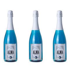 Vin spumant albastru Azul Alma de Merixel, Bautura pe baza de vin, set trei sticle de 750ml