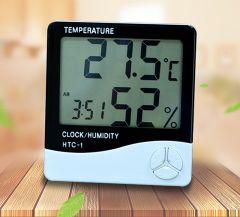 Termohigrometru digital cu ceas si alarma