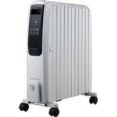 Calorifer electric cu ulei Finlux FR-1025T WH, 2500W, 10 elementi, 3 trepte de putere, Timer, Telecomanda