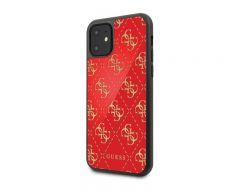 Husa Premium Guess Glitter iPhone 11 Rosu Gold