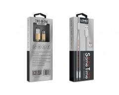 Cablu Date 2in1 Ldnio Magnetic Micro-usb Si Lightning Silver