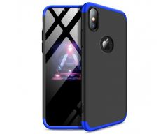 Husa 360 Grade Upzz Protection iPhone X/xs Negru Albastru