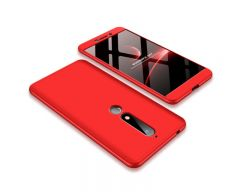 Husa 360 Grade Upzz Protection Nokia 6.1 2018 Rosu