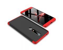Husa 360 Grade Upzz Protection Nokia 6.1 2018 Rosu-negru