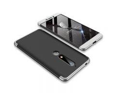Husa 360 Grade Upzz Protection Nokia 6.1 2018 Negru-silver