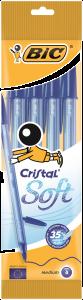 Pix BIC Cristal Soft, albastru,  4 bucati