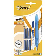 Stilou Easy Clic Standard + 6 rezerve cerneala + 1 mini PIC, Bic