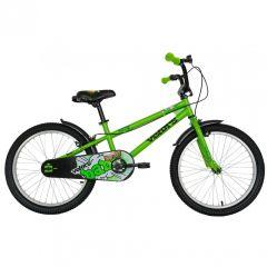 "Bicicleta baieti VELORS V2001A, roata 20"", C-Brake, cosulet, 7-10 ani, verde"