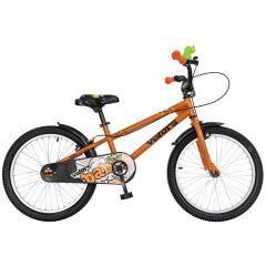 "Bicicleta baieti VELORS V2001A, roata 20"", C-Brake, cosulet, 7-10 ani, portocaliu"