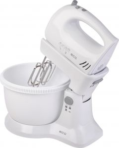 Mixer de mana cu bol ECG RSM 02, 300 W, 3.3 L, 5 viteze, functie Turbo, alb