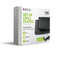 Set 2 placi de gratar pentru grill electric ECG KG 400 Superior