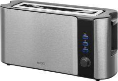 Prajitor de paine ECG ST 10630 inox , 1000 W, 2 felii, 6 niveluri de rumenire