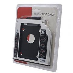 Rack HDD Caddy SATA Nelbo HDD/SSD pentru montarea unui al 2-lea HDD / SSD in laptop 9.5mm RETAIL