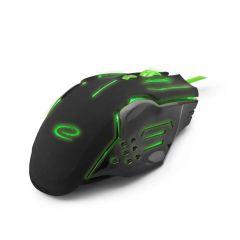 Mouse gaming cu fir, pentru jucatori incepatori si experimentati, APACHE, 7 butoane Verde