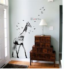 Sticker perete Magical giraffe 60x90cm