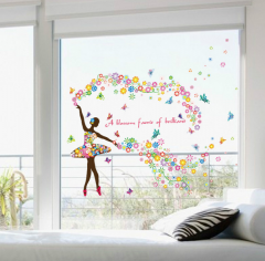 Sticker decorativ fereastra Ballerina 60x90cm