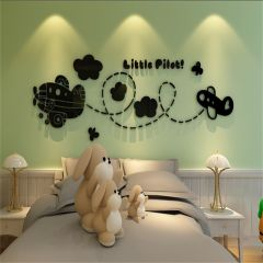 Sticker acrilic 3D Pilot 59x180 cm Black