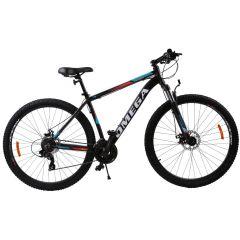 """Bicicleta mountainbike Omega Thomas 29"""", cadru 46cm, negru/portocaliu/alb 2019"""
