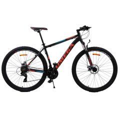 """Bicicleta mountainbike Omega Thomas 29"""", cadru 49cm, negru/albastru/portocaliu 2019"""
