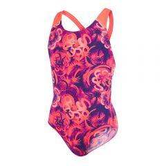 Costum de baie allover splash back Speedo pentru fete Mov/Rosu