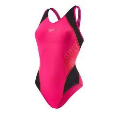Costum inot femei Speedo Muscleback Fit roz/rosu