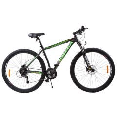 "Bicicleta mountainbike Omega Bettridge 29"", cadru 49 cm, negru/verde 2019"
