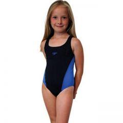 Costum de baie Lepa splash back Speedo pentru fete negru/albastru