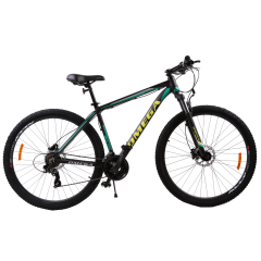 "Bicicleta mountainbike Omega Duke 29"", cadru 49cm, 2019 negru/verde/galben"