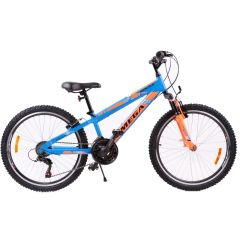 "Bicicleta mountainbike copii Omega Gerald 24"", 18 viteze, albastru 2019"
