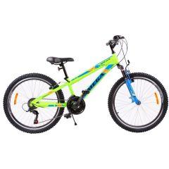 "Bicicleta mountainbike copii Omega Gerald 24"", 18 viteze, verde 2019"