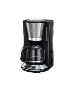 Cafetiera 24050-56 Russell Hobbs Velocity , 1100 W, 1.25 l, Filtrare rapida, Timer, Inox/Negru