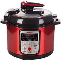 Multicooker D511 Minerva Experience, 900 W, 5 L, 13 programe, Timer, Mentinere la cald,  Rosu