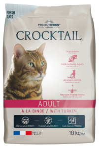Hrana completa pentru pisici adulte Crocktail cu Curcan, 10 kg