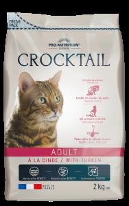Hrana completa pentru pisici adulte Crocktail cu Curcan, 2 kg