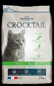 Hrana completa pentru pisici adulte care prefera gusturile variate, Crocktail Multi, cu pasare si legume, 2 kg