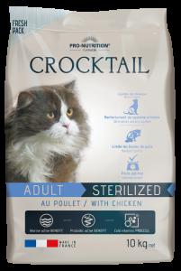 Hrana uscata completa pentru pisici sterilizate, Crocktail cu pui, 10 kg