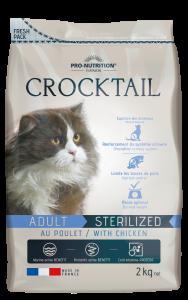 Hrana uscata completa pentru pisici sterilizate, Crocktail cu pui, 2 kg