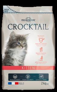 Hrana completa pentru pisoi sub 1 an si pentru pisici gestante sau in perioada lactatiei, Crocktail Kitten, 400g