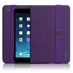 Carcasa, Patchworks, Book Cover - iPad Mini - Purple, pentru Apple iPad mini 3, mov