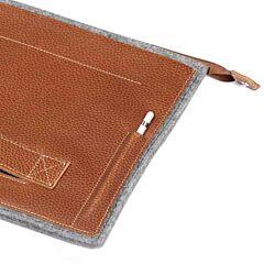 Pouch, Patchworks, Leather Sleeve , pentru Apple iPad Pro 9.7, maro
