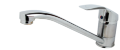 Baterie Aqua Star Bucatarie din alama, lingime pipa 220 cm, cu sistem de fixare si racorduri flexibile