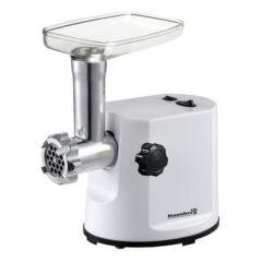 Masina de tocat carne electrica 1200W Hausberg, cutit inox, 1kg/minut, accesoriu carnati, alb